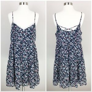 Maurices Floral Print Spaghetti Strap Dress Size M